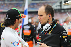 Sergio Pérez, Sahara Force India F1 con Gianpiero Lambiase, Sahara Force India F1 ingeniero