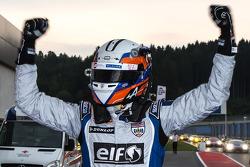 Oliver Webb celebrates victory