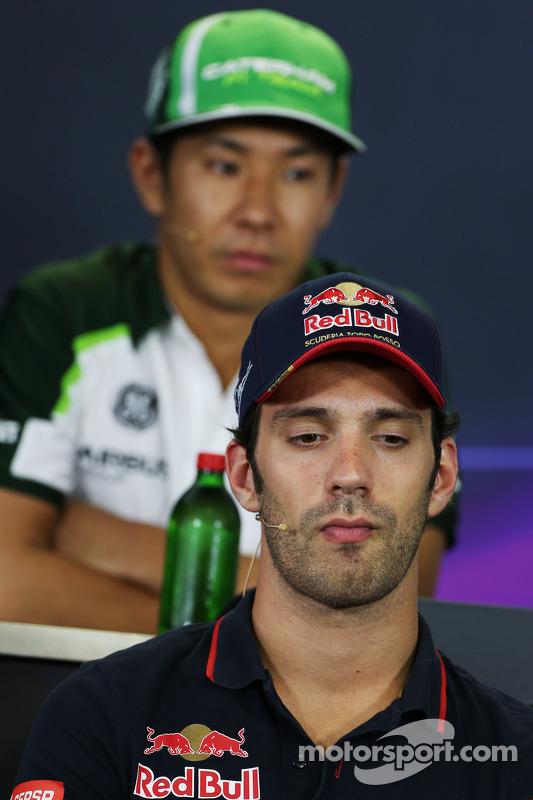 Jean-Eric Vergne, Scuderia Toro Rosso alla conferenza stampa FIA