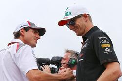 Fahrerparade: Adrian Sutil, Sauber; Nico Hülkenberg, Sahara Force India F1