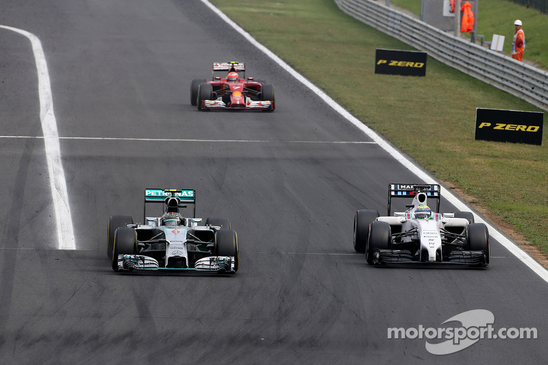 Nico Rosberg, Mercedes AMG F1 Team; Felipe Massa, Williams F1 Team