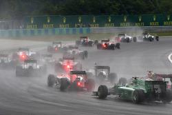 Largada da corrida, Max Chilton, Marussia F1 Team