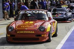 Porsche in the pitlane