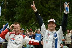 Secondo posto per Sébastien Ogier, terzo posto per Kris Meeke