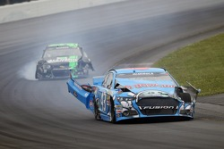 Aric Almirola, Richard Petty Motorsports Ford crashed