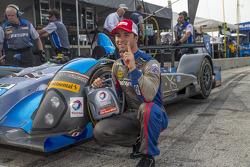 Bruno Junqueira celebrates PC pole