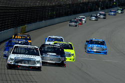 Johnny Sauter leads a pack of cars