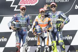 Podium: Sieger Dani Pedrosa; 2. Jorge Lorenzo; 3. Valentino Rossi