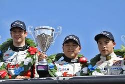 Race winner Matt Rao, second place Martin Cao, third place Peter Li Zhi Cong