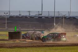 #43 Hoonigan Racing Division 福特嘉年华 ST: 肯·布洛克, #77 大众安德雷蒂 Rallycross 大众 Polo: 斯科特·斯皮德