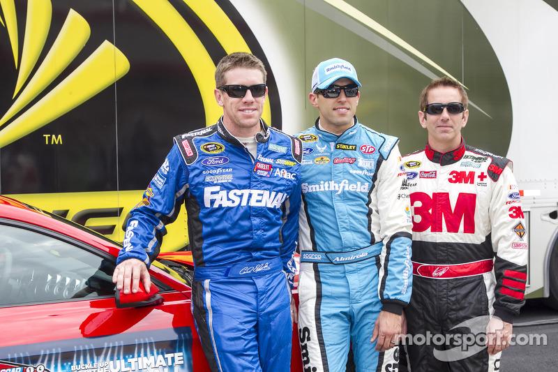 Carl Edwards, Aric Almirola ve Greg Biffle