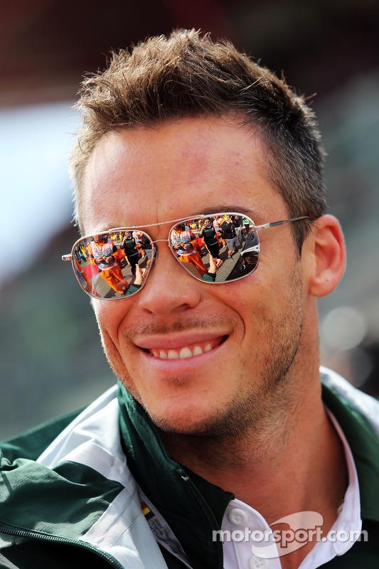 Andre Lotterer, Caterham F1 Team, no desfile dos pilotos