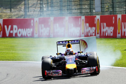 Daniel Ricciardo, Red Bull Racing RB10 locks up under braking