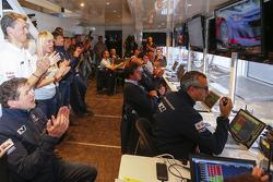 Hyundai Motosport team members celebrate
