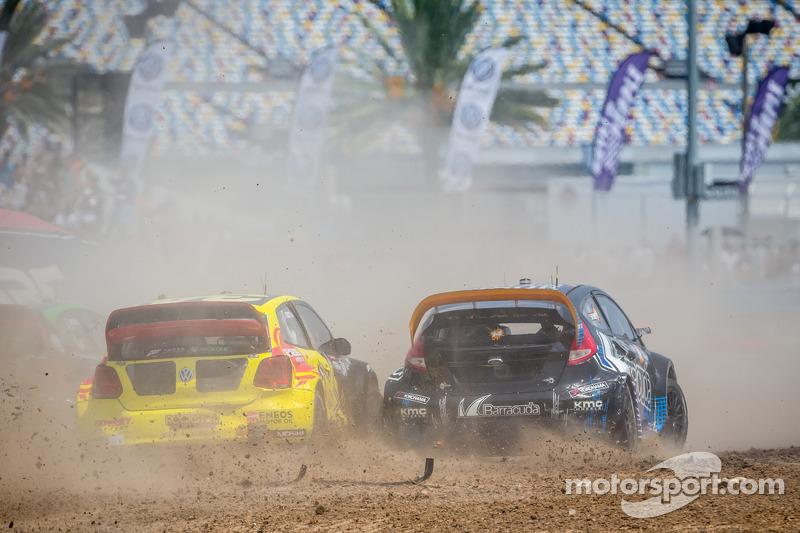 #34 大众 安德雷蒂 Rallycross 大众 Polo: 泰纳·福斯特, #14 Barracuda Racing 福特嘉年华 ST: 奥斯丁·达因
