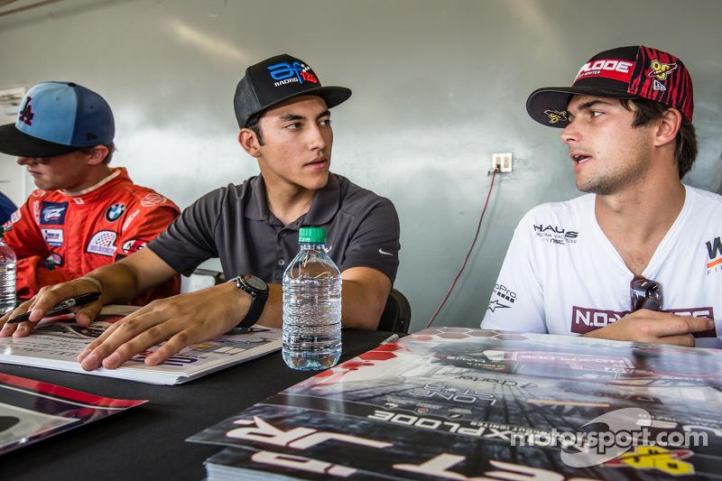 #126 Olsbergs MSE: Alejandro Fernandez and #07 SH Racing Rallycross Ford Fiesta ST: Nelson Piquet Jr