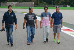 Juan Pablo Montoya, walks the circuit