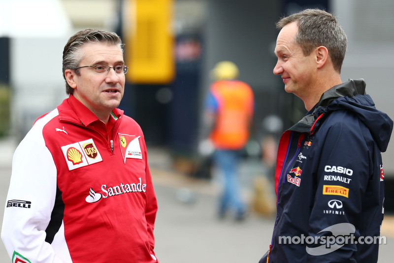 (L to R): Pat Fry, Ferrari Deputy Technical Director and Head of Race Engineering with Paul Monaghan
