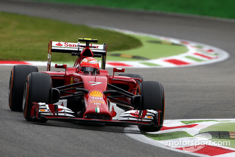 kimi raikkonen scuderia ferrari op italiaanse gp formule 1 foto 39 s. Black Bedroom Furniture Sets. Home Design Ideas
