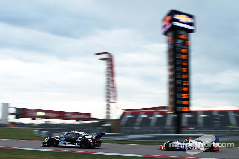 #27 邓普希 Racing 保时捷 911 GT America: 帕特里克·邓普希, 安德鲁·戴维斯 和 #54 CORE autosport ORECA FLM09: 琼·本内特, 科林·布朗