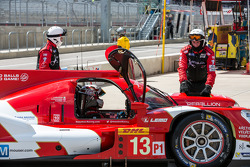 Trouble for #13 Rebellion Racing Rebellion R-One - Toyota: Dominik Kraihamer, Andrea Belicchi, Fabio Leimer