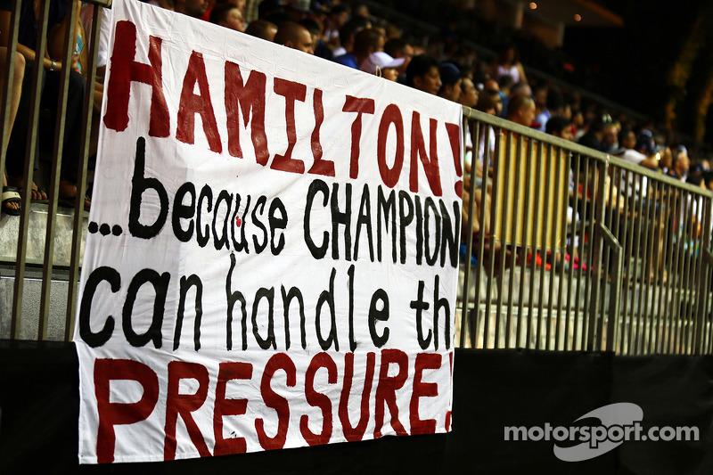 Banner de Lewis Hamilton, Mercedes AMG F1