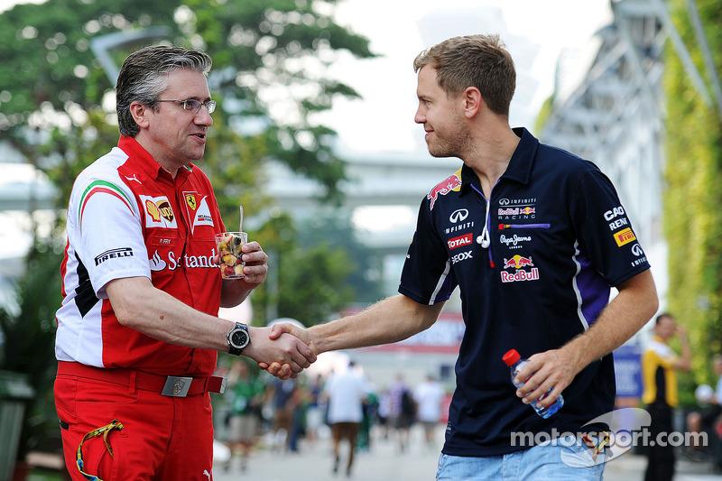 Pat Fry, Director técnico de Ferrari adjunto y jefe de la carrera de ingeniería con Sebastian Vettel, Red Bull Racing