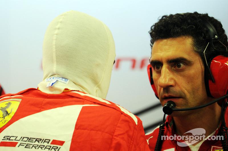 Fernando Alonso, Ferrari ve AnDr. Vijay Malyaea Stella, Ferrari Yarış Mühendisi