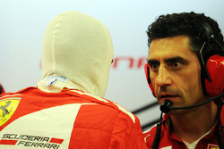 Fernando Alonso, Ferrari with AnDr. Vijay Malyaea Stella, Ferrari Race Engineer