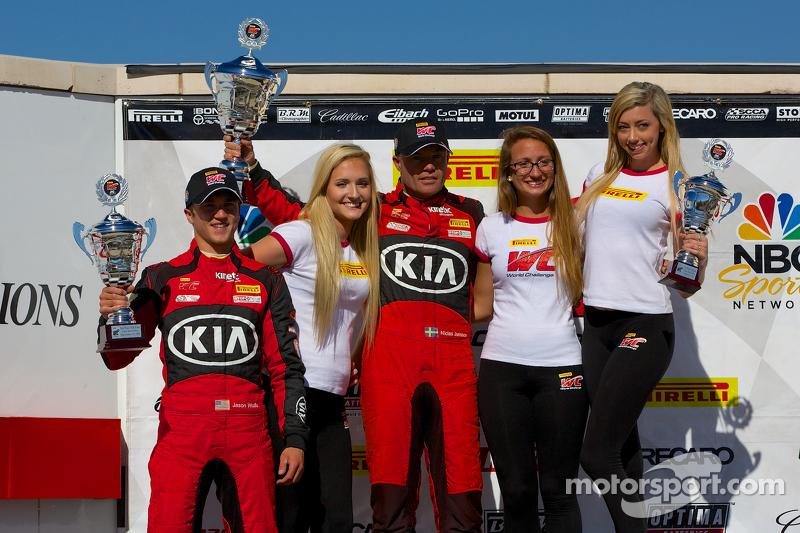 Vincitori TCA podio: 2 ° posto Jason Wolfe, 1 ° posto Nic Jonsson