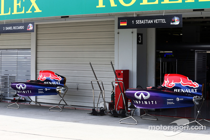 The Garage Door Is Down As Christian Horner, Red Bull Racing Team Principal  Informs Personnel