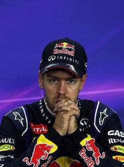 Sebastian Vettel, Red Bull Racing en la Conferencia de prensa FIA