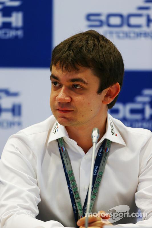 Sergey Vorobyev, Deputy General Director, OJSC Centre Omega, e Russian GP Promoter at a Press Briefing