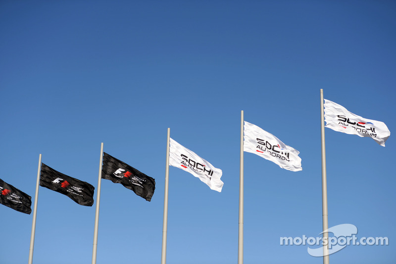F1 and Sochi Autodrom flags