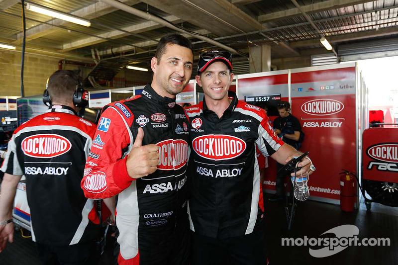 Ganador de la pole Fabian Coulthard y Lucas Youlden