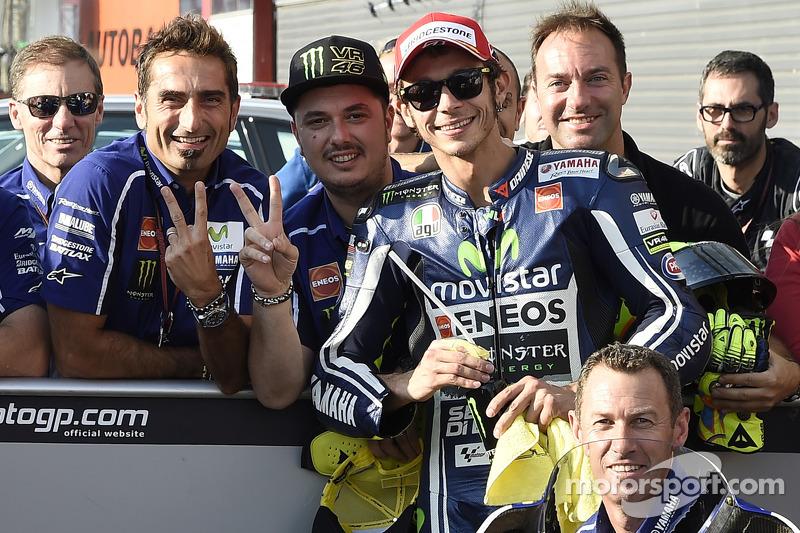 El segundo puesto de clasificación para Valentino Rossi, de Yamaha Factory Racing