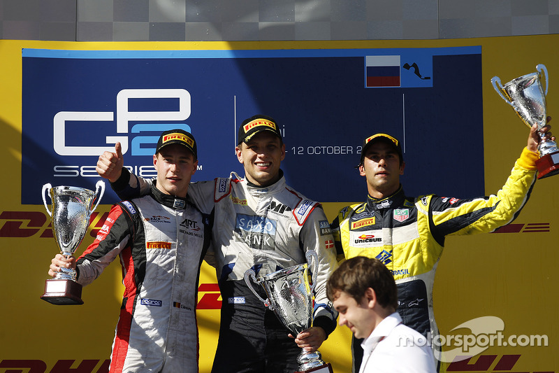 Stoffel Vandoorne, Marco Sorensen, e Felipe Nasr