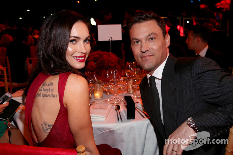 Actriz Megan Fox y el actor Brian Austin Green