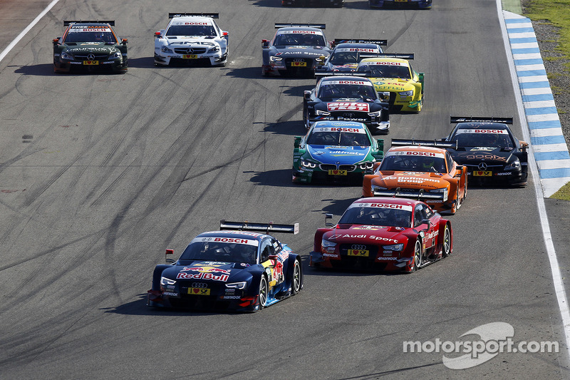 Partenza della gara, Mattias Ekstrom, Audi Sport Team Abt Sportsline, Audi A5 DTM