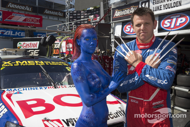 Jason Bright, BOC Racing con lo sponsor X-Men