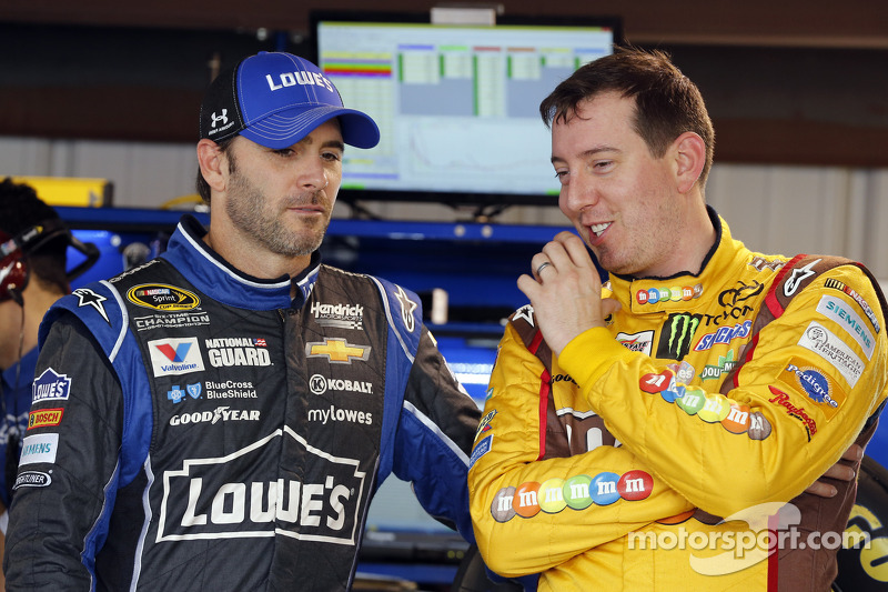Jimmie Johnson and Kyle Busch
