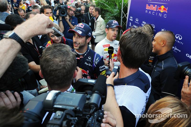 Daniel Ricciardo, Red Bull Racing ve Sebastian Vettel, Red Bull Racing