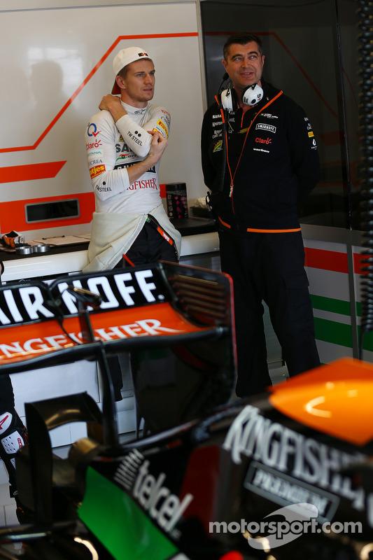 Nico Hulkenberg, Sahara Force India F1, com Bradley Joyce