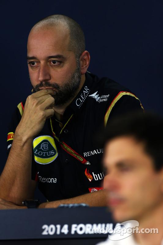Gerard Lopez, Lotus F1, director del equipo en conferencia