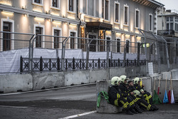 Smoke break for the fire marshalls