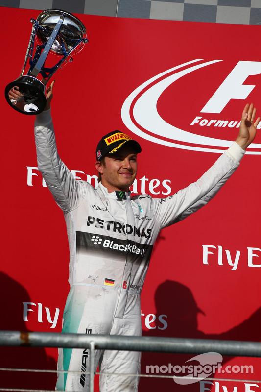 2nd place Nico Rosberg, Mercedes AMG F1 W05