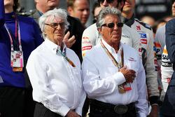 (Da sinistra a destra): Bernie Ecclestone, con Mario Andretti, Ambasciatore del Circuito delle Americhe