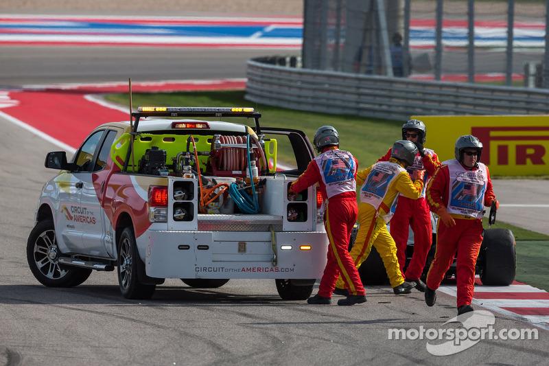 La Sauber C33 di Adrian Sutil, Sauber viene rimosso dal circuito
