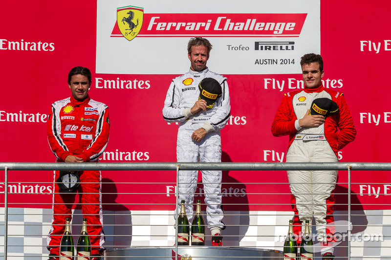 TP podio: vincitore Mark McKenzie, il secondo posto Ricardo Perez, terzo posto Gregory Romanelli