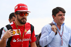 Fernando Alonso, Ferrari with Luis Garcia Abad, Driver Manager